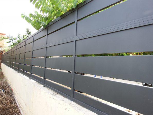 """גדר אלומיניום פרופילים 24X60 – מחיר למ""""ר דגם 11"""