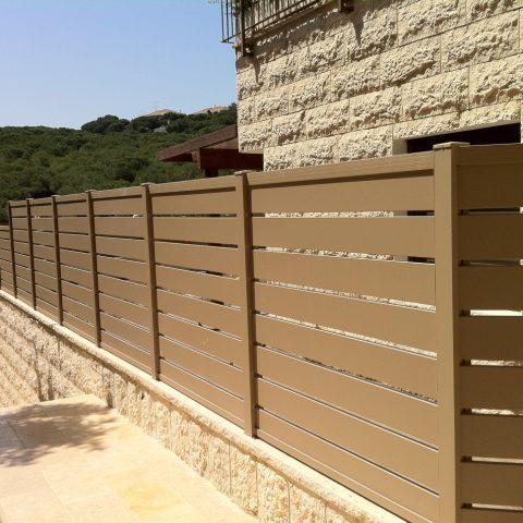 גדרות-גדר פרופילים 24 צבע חום